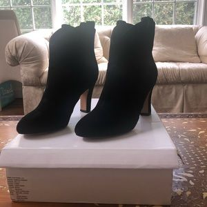 Brand New Rebecca Minkoff Suede Heeled Boots 7M